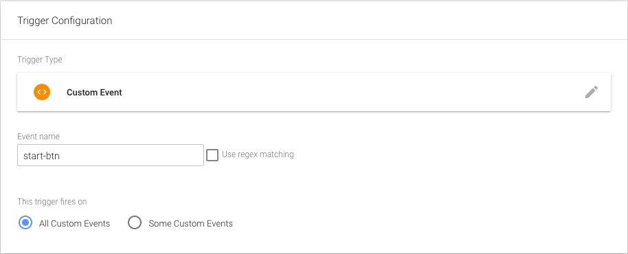 Event trigger for start button - Google Tag Manager quiz events