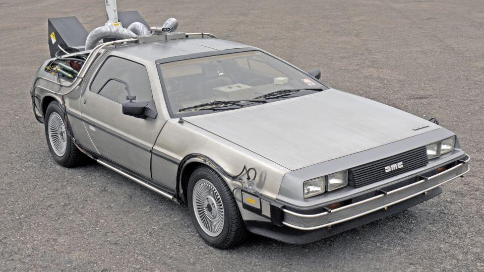 Delorean car replica
