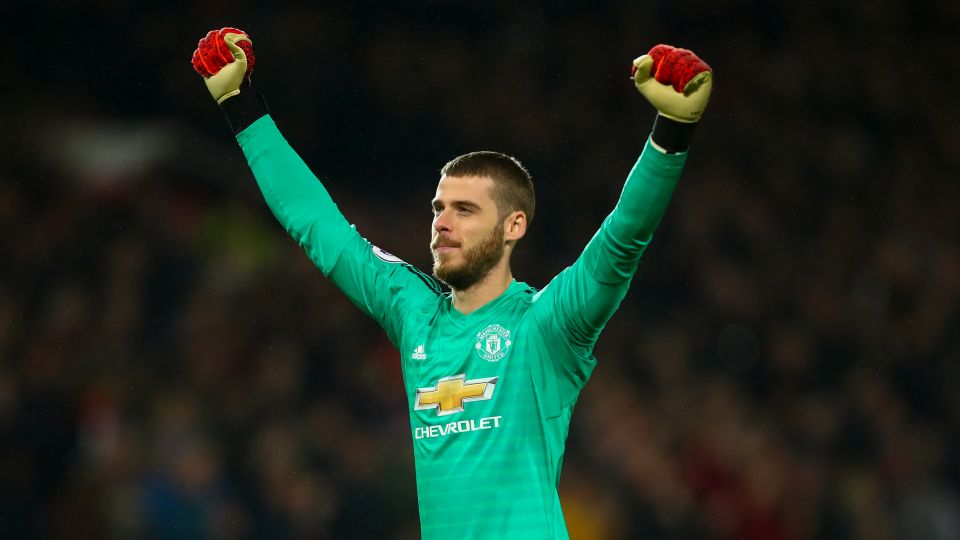 David De Gea playing for Manchester United.